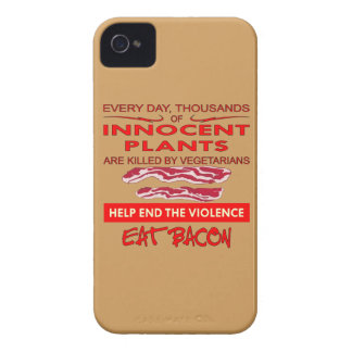 Help End The Violence Eat Bacon iPhone 4 Case-Mate Case