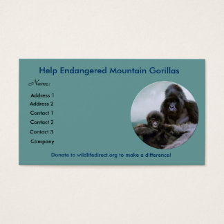 Help Endangered Mountain Gorillas ~ Profile Cards