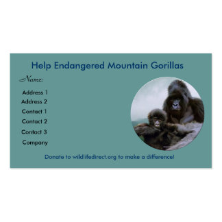 Help Endangered Mountain Gorillas ~ Profile Cards Business Card