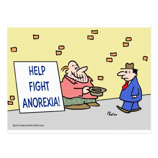 Help fight anorexia. postcard