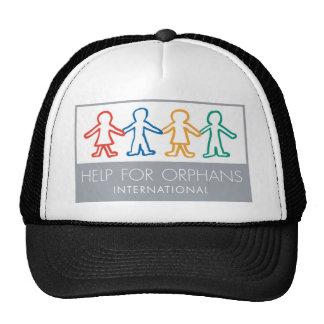 Help for Orphans Black/White Baseball Cap Trucker Hat