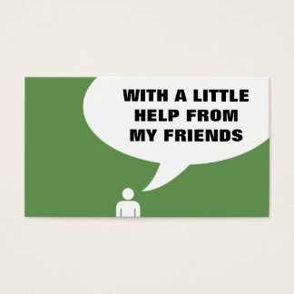 help from my friends comic bubble referral business card