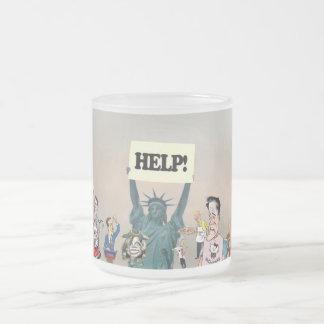 HELP! FROSTED GLASS COFFEE MUG