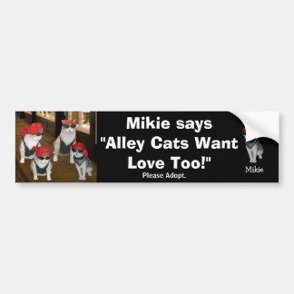 Help Get Cats off the Street. Bumper Sticker