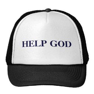 HELP GOD TRUCKER HAT