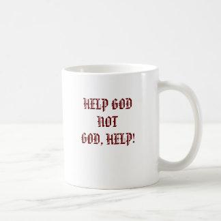 HELP GODNOTGOD, HELP! COFFEE MUG