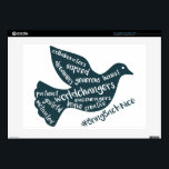"""Help grow the movement to #BringBackNice! 15&quot; Laptop Decal<br><div class=""""desc"""">Created by a brave 10-year old little girl who overcame bullying and wants to #BringBackNice to the world. Together with her mom, Izzi created Bring Back Nice to empower kids who are being bullied to be brave and strong, to help bullies understand differences in peers, and help friends learn to...</div>"""