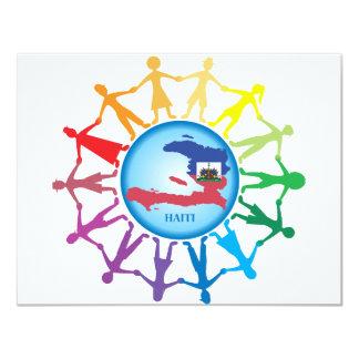 Help Haiti 2 4.25x5.5 Paper Invitation Card