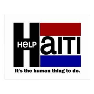 Help Haiti CHARITY DESIGN Postcard