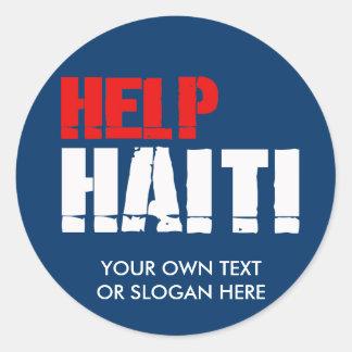 HELP HAITI CLASSIC ROUND STICKER
