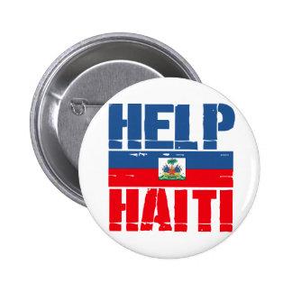 HELP HAITI FLAG BUTTON