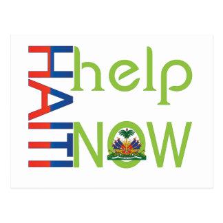 help haiti now postcard