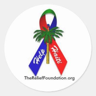 Help Haiti Paper Products Round Sticker