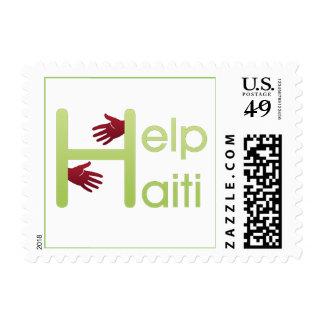 help haiti postage stamp