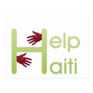 help haiti postcard