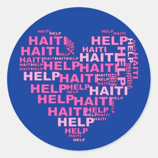 Help Haiti T shirt and Apparel Classic Round Sticker