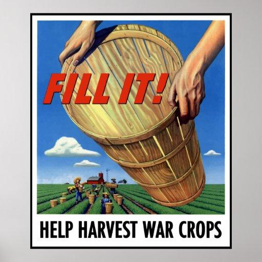 Help Harvest War Crops -- Border Poster