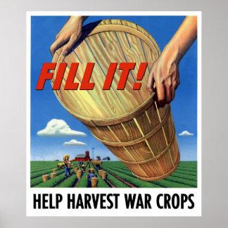 Help Harvest War Crops Poster