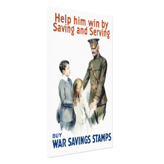 Help Him Win By Saving And Serving Canvas Print