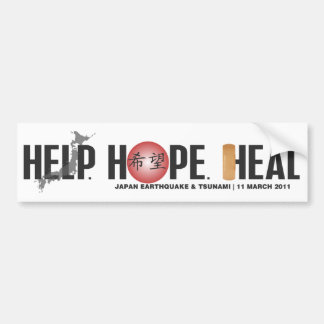 HELP. HOPE. HEAL #2 BUMPER STICKER