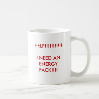 HELP!!!!!!!!!!!I NEED AN ENERGY PACK!!!! CLASSIC WHITE COFFEE MUG