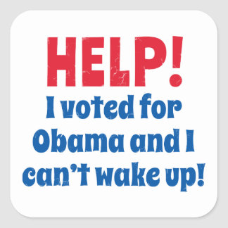 Help! I Voted for Obama and I Can't Wake Up! Square Sticker