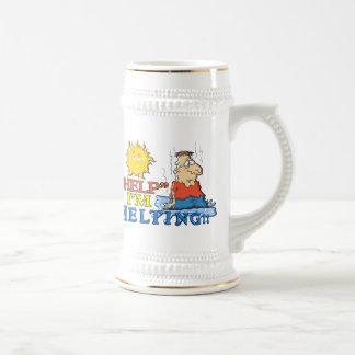 """HELP"" I'm Melting Beer Stein"