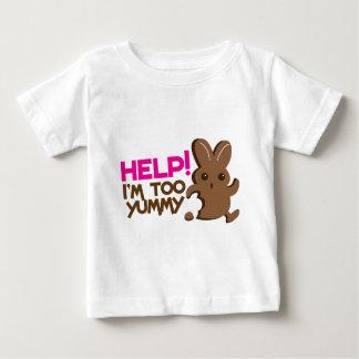 HELP ! I'm too YUMMY! Easter bunny Chocolate run Baby T-Shirt