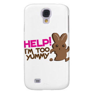 HELP ! I'm too YUMMY! Easter bunny Chocolate run Galaxy S4 Case