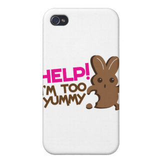 HELP ! I'm too YUMMY! Easter bunny Chocolate run iPhone 4/4S Cover