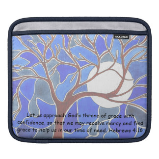 Help in time of need - Hebrews 4:16 - Bible verse Sleeves For iPads