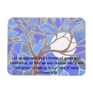 Help in time of need - Hebrews 4:16 - Bible verse Rectangular Photo Magnet