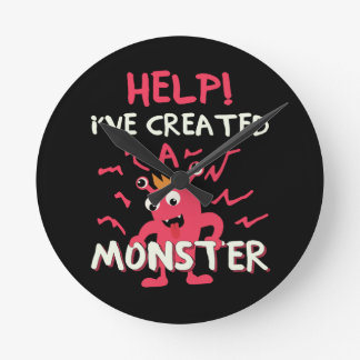 Help I've Created a Monster Mothers Day Fathers Round Clock