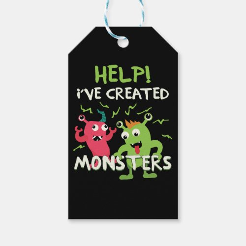 Help Ive Created Monsters Mothers Day Fathers Day Gift Tags
