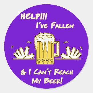 Help I've Fallen (dk) Classic Round Sticker
