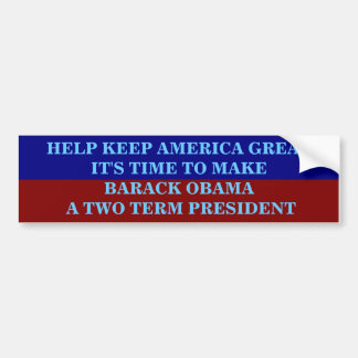 HELP KEEP AMERICA GREAT BUMPER STICKER
