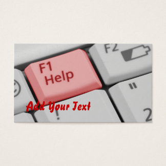 Help Laptop keyboard photograph Business Card