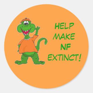 Help make NF extinct! Round Sticker