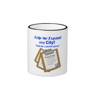 """Help Me Expand My City!"" Game Mug"