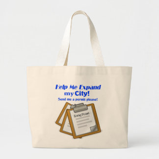 """""""Help Me Expand My City!"""" Game Tote Bag"""