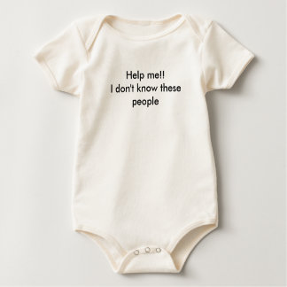 Help me!!I don't know these people Baby Bodysuit