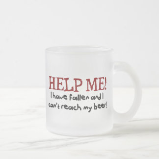 Help me! I have fallen Frosted Glass Coffee Mug