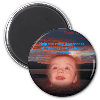 Help me raise Awareness! 2 Inch Round Magnet
