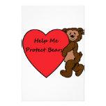 HELP ME SAVE BEARS STATIONERY DESIGN
