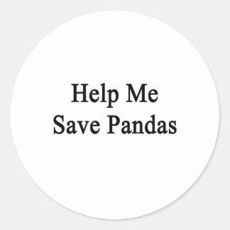 Help Me Save Pandas Round Sticker