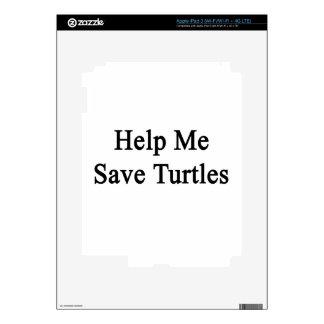 Help Me Save Turtles iPad 3 Skin