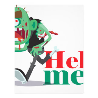 help me zombie - Funny Design Letterhead