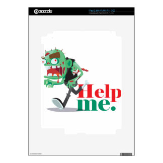 help me zombie - Funny Design Skins For iPad 2
