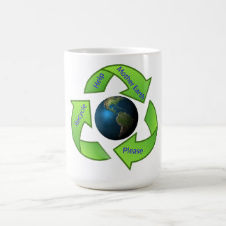 Help Mother Earth Please Recycle. Classic White Coffee Mug