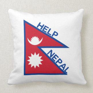 Help Nepal! Throw Pillows